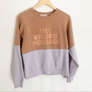 Obey Worldwide No 89 Colorblock Sweatshirt